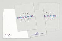 Festive Congratulations Greeting Card Template