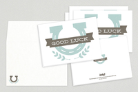 Good Luck Horizontal Greeting Card Template