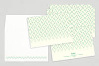 Chevron Patterned Universal Greeting Card Template