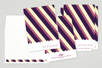 Vibrant Striped Greeting Card Template