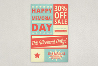 Retro Memorial Day Flyer Template