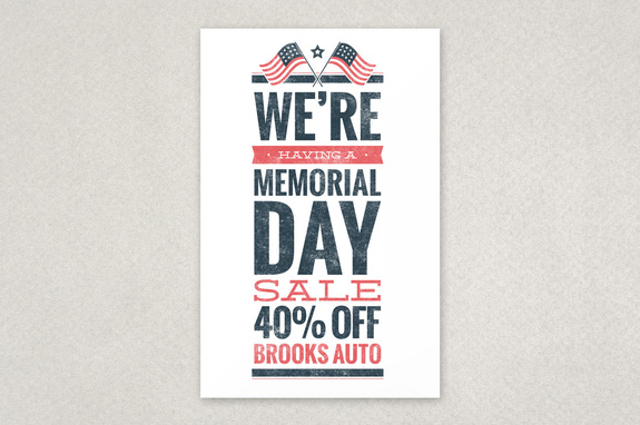 Memorial Day Sale Flyer Template | Inkd