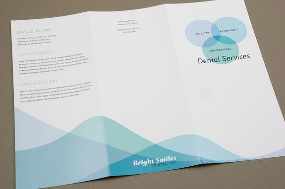Family Dentist Brochure Template Inkd - Dental brochure template