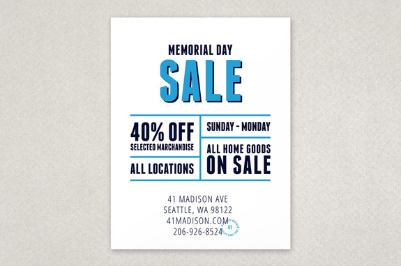 Bold Modern Sale Flyer Template | Inkd