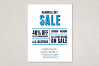 Bold Modern Sale Flyer Template
