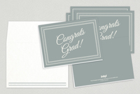 Classic Congratulations Graduate Greeting Card Template