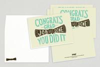 Graduate Diploma Greeting Card Template