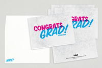 Bold Congratulations Grad Greeting Card Template