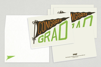 Congrats Grad Pennant Greeting Gards Template
