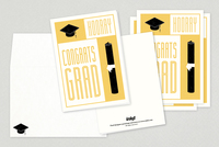 Graduation Congratulations Greeting Card Template