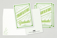 Retro Congratulations Graduate Greeting Card Template