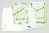 Retro Congratulations Graduate Greeting Card Template