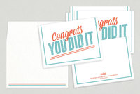 Fun Vintage Congratulations Greeting Card Template