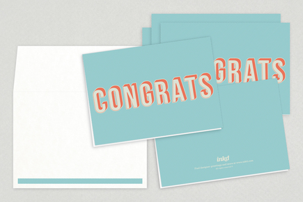 Bold Modern Congratulations Greeting Card Template