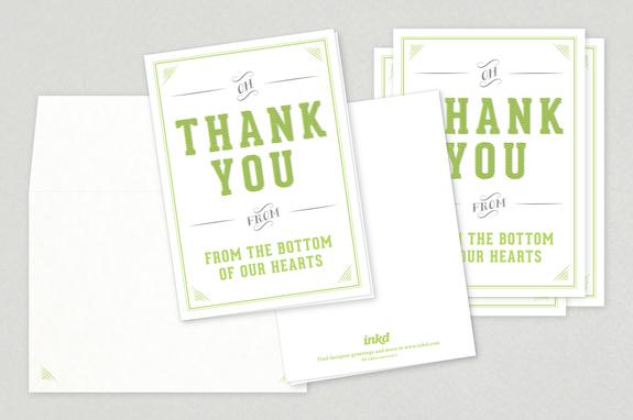 elegant wedding thank you card template inkd