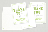 Elegant Wedding Thank You Card Template