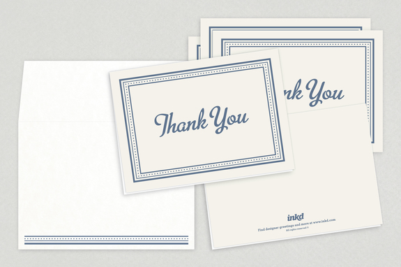 classic formal thank you card template