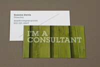 Green Wood Maintenance Business Card Template