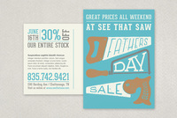 Father's Day Sale Postcard Template