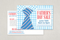 Fathers Day Sale Postcard Template
