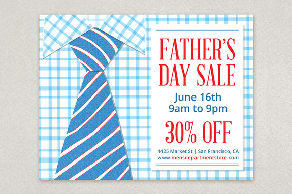 father s day sale flyer template inkd