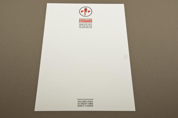 Plumbing Service Letterhead Template Inkd