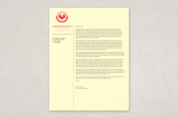 Professional Law Firm Letterhead Template  Microsoft Word Legal Template