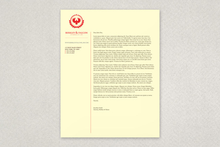 Professional Law Firm Letterhead Template | Inkd