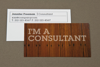 Dark Wood Maintenance Business Card Template