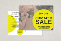 Vintage Summer Sale Postcard Template