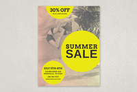 Vintage Summer Sale Flyer Template