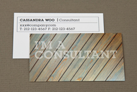 Weathered Wood Maintenance Business Card Template