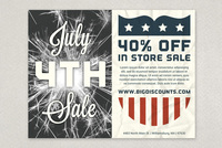 4th of July Sale Template