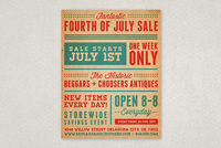 Antique Summer Sale Flyer Template