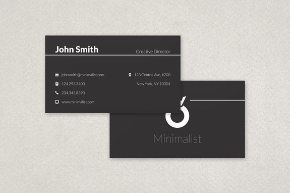 Clean minimalist business card template inkd clean minimalist business card template accmission Choice Image
