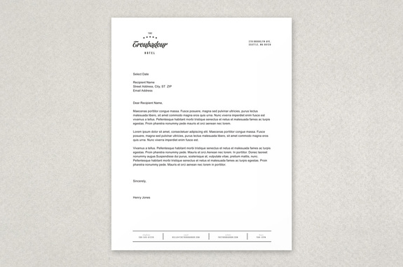 dynamic hotel letterhead template