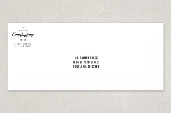 Dynamic Hotel Envelope Template  Inkd