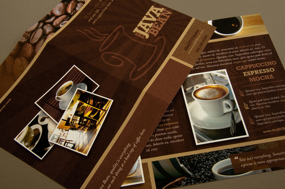 Cozy Coffee Shop Brochure Template  Inkd