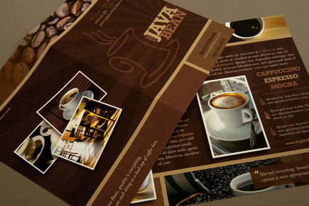 Cozy Coffee Shop Brochure Template | Inkd