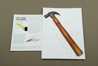 Home Maintenance Postcard with Hammer Template