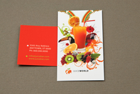 Juice Bar Business Card Template