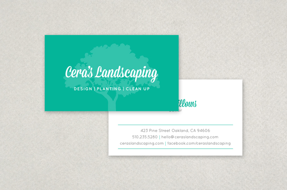 Modern Landscaping Business Card Template Inkd