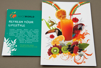 Juice Bar Postcard Template