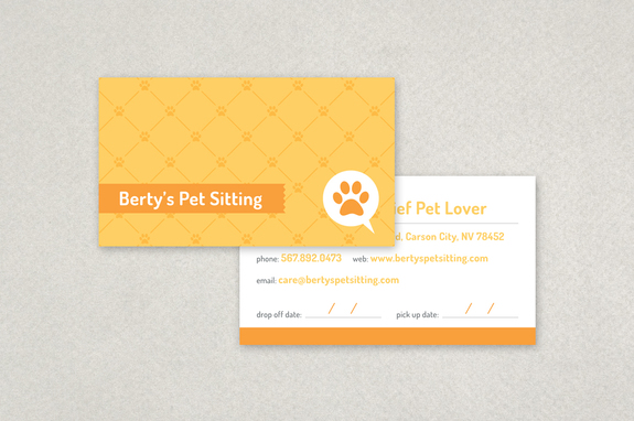 pet sitting business card template inkd