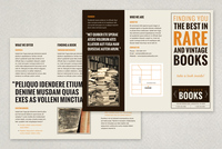 Vintage Bookstore Brochure Template