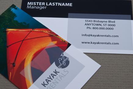kayak rental business card template inkd. Black Bedroom Furniture Sets. Home Design Ideas
