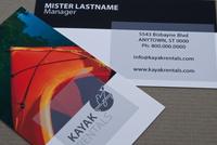 Kayak Rental Business Card Template