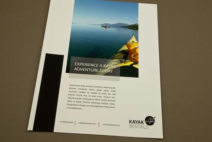 kayak rental flyer template inkd. Black Bedroom Furniture Sets. Home Design Ideas