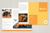 Pet Sitting Brochure Template