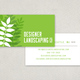 Designer Landscaping Business Card Template